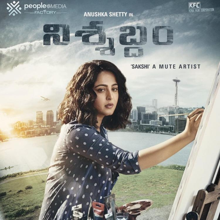 Nishabdam FIRST Look Out: Anushka Shetty transforms into a mute artist in the intriguing poster