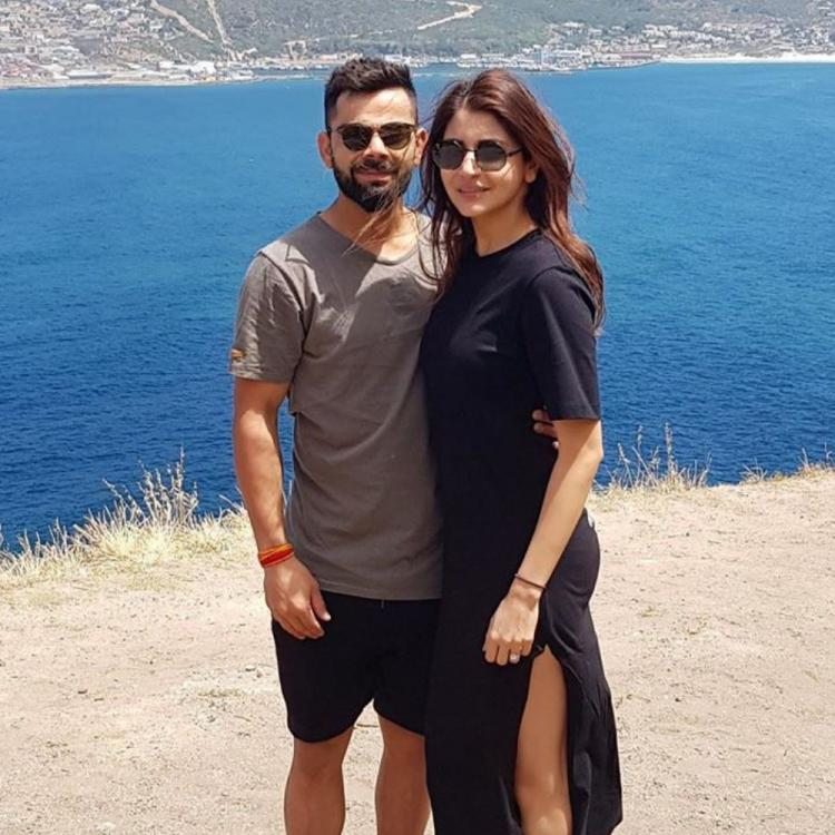 Anushka Sharma & Virat Kohli's latest photo is a visual treat as they pose at a picturesque spot; Check it out