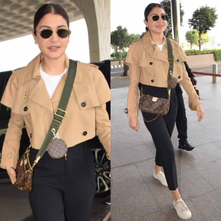 Anushka Sharma jets out of the city in a trench coat from our dreams and a Louis Vuitton sling: Yay or Nay?