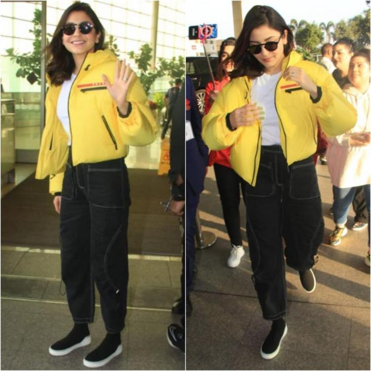 Anushka Sharma's chic yet comfy airport look is perfect for the winter season; Check it out
