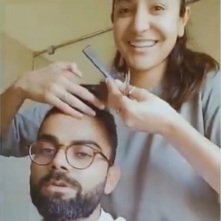Anushka Sharma turns into hubby Virat Kohli's hair stylist amid quarantine & gives him a cool new look; WATCH