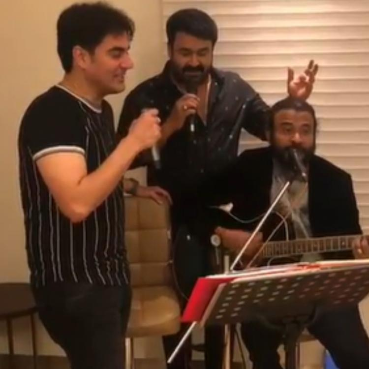 WATCH: Mohanlal & Arbaaz Khan get into singing mood as they croon to classic songs on the sets of Big Brother