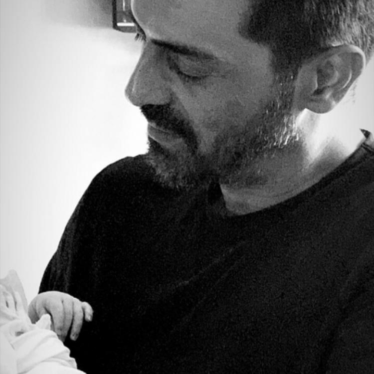 Arjun Rampal holds his baby boy in his arms & Gabriella Demetriades shares the FIRST photo of the two; See Pic