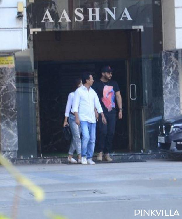 Arjun Kapoor and Malaika Arora SPOTTED leaving designer Vikram Phadnis' building