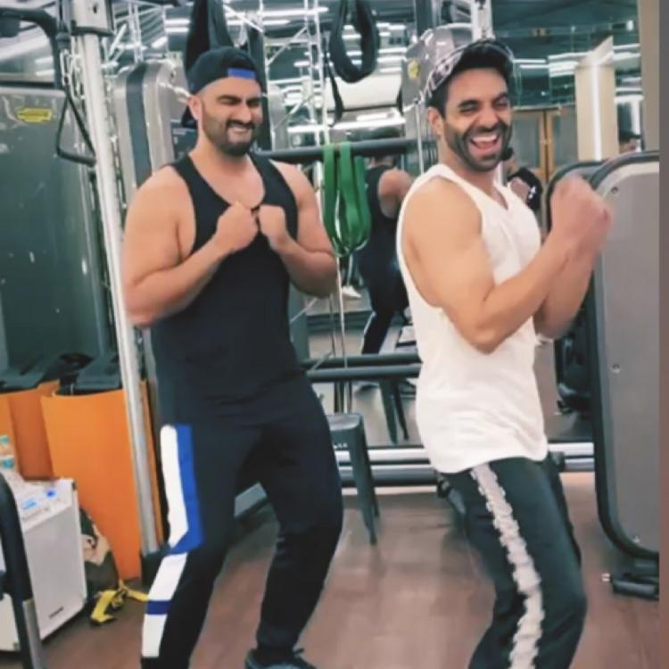 Watch: Arjun Kapoor takes up Don't Be Shy challenge with Aparshakti Khurana; Ayushmann Khurrana left in splits
