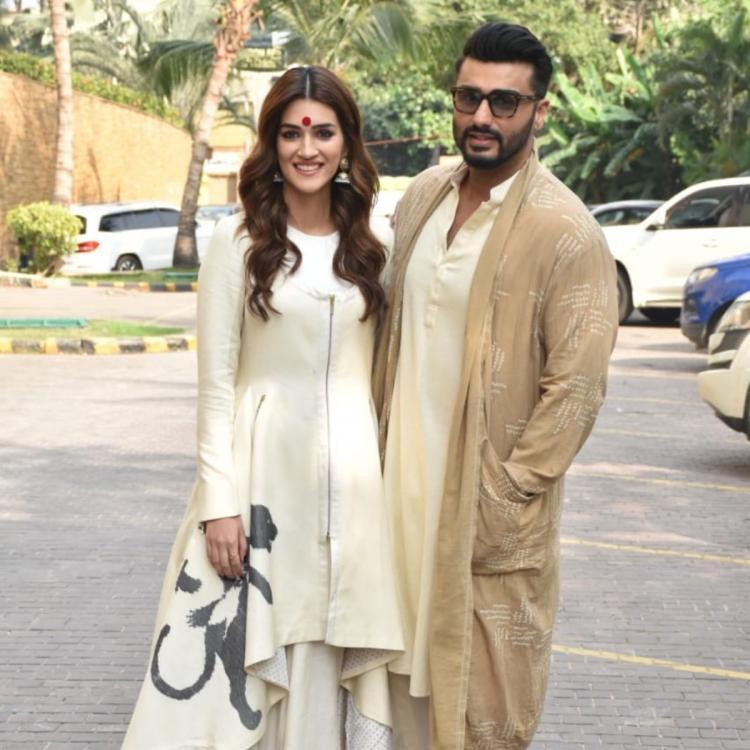 PHOTOS: Arjun Kapoor and Kriti Sanon look stunning as they twin in ethnic ensembles for Panipat promotions