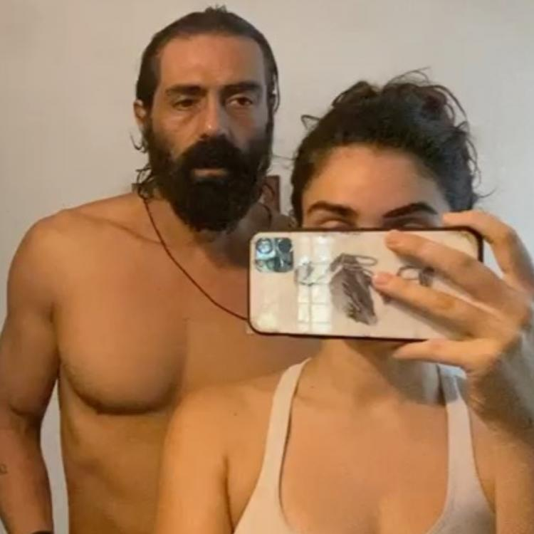 Arjun Rampal wishes his beard grows before filming starts as girlfriend Gabriella helps him to shave; Watch
