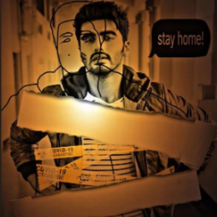 Arjun Kapoor shares a fan art featuring himself with a message related to the Coronavirus pandemic; See PHOTO
