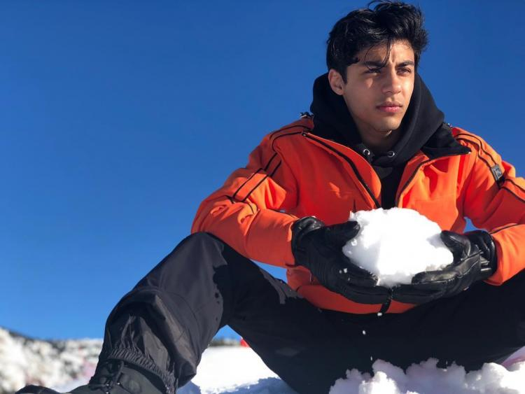 Aryan Khan posts photos from his France vacation and female fans can't help but NOTICE his PERFECT jawline