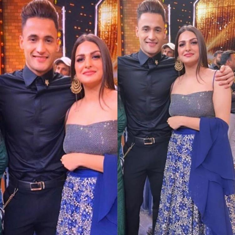 Bigg Boss 13 Finale: Asim Riaz poses for a cute picture with ladylove Himanshi Khurana & it is all things love