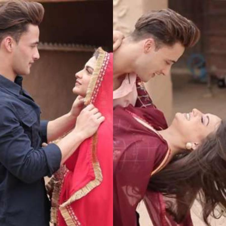 Asim Riaz lifts Himanshi Khurana in his arms in a BTS video from Khyaal Rakhya Kar is all things adorable