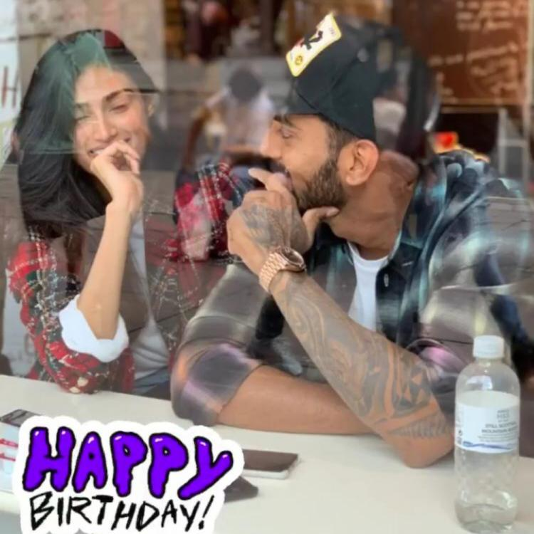 KL Rahul shares an adorable picture to wish Athiya Shetty on her birthday and gives way to dating rumours