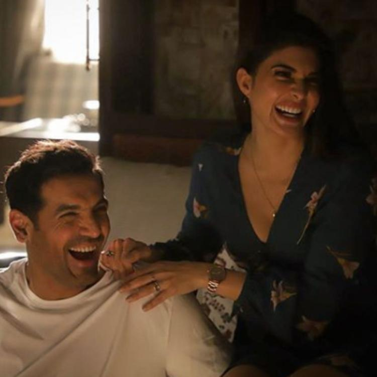 Attack: Jacqueline Fernandez shares a BTS PIC from the sets of John Abraham starrer; Check it out