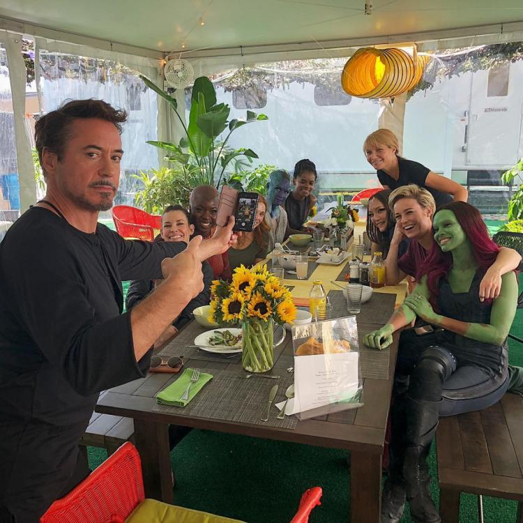 One year ago, during the filming of Avengers: Endgame, Robert Downey Jr. organised a special luncheon for the women of Marvel.