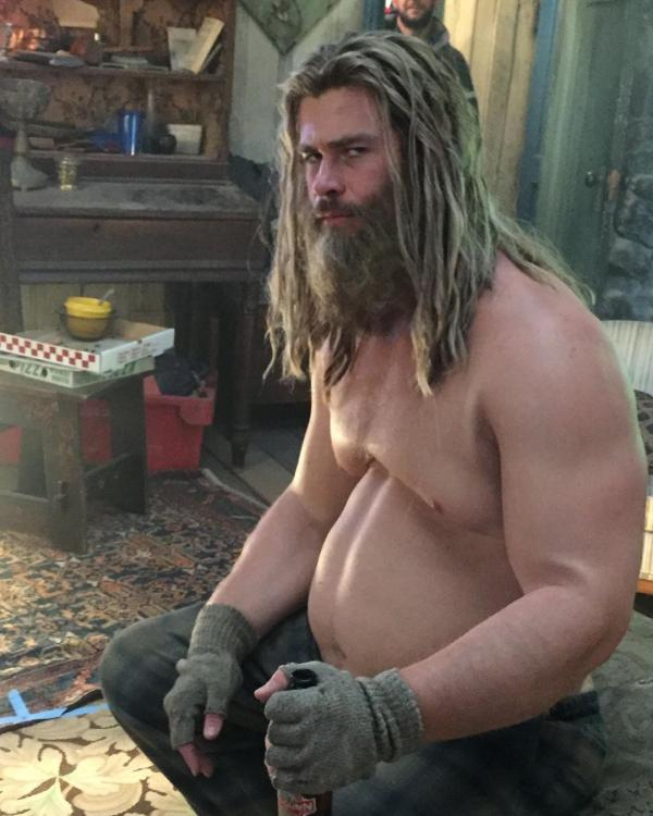 Chris Hemsworth showed a new dimension to the mighty Thor in Avengers: Endgame.