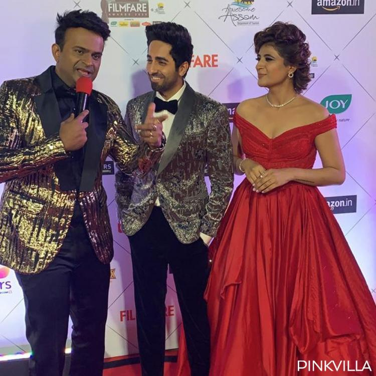Filmfare Awards 2020: Ayushmann Khurrana & Tahira Kashyap make for a regal couple as they arrive for the show