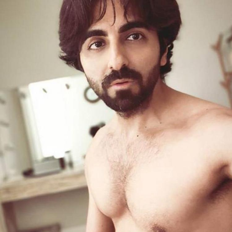 Ayushmann Khurrana flaunts his messy hair in a shirtless avatar as he continues his 'Caveman sessions'