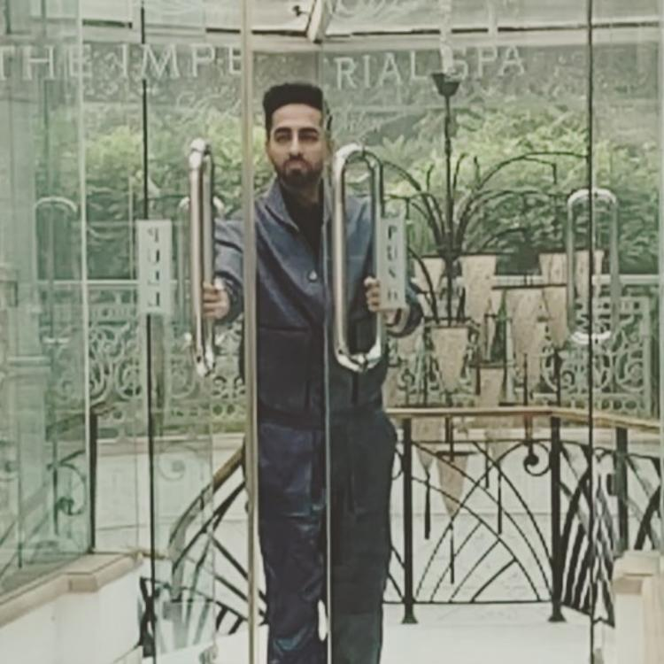 Ayushmann Khurrana looks uber cool while entering a spa in a slow motion style; Watch