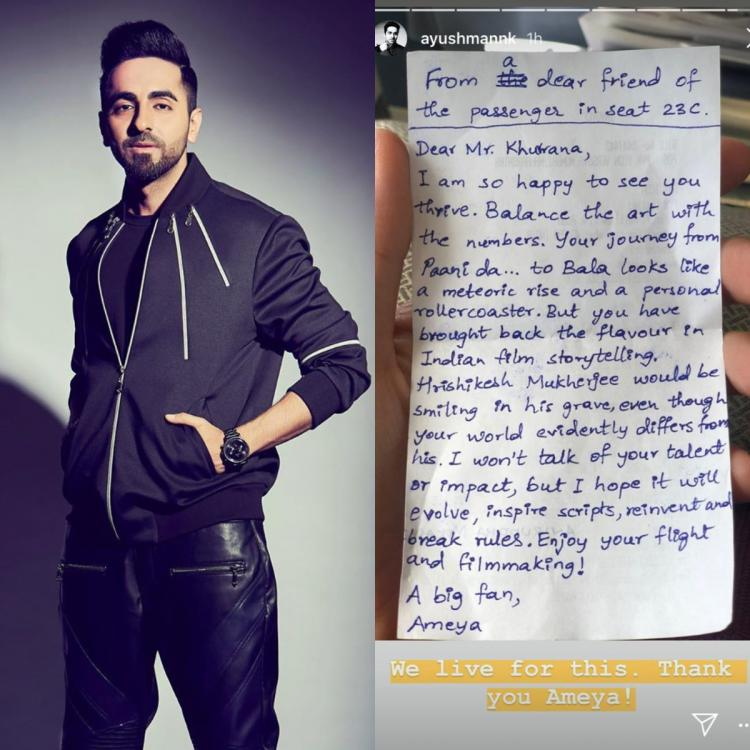 Ayushmann Khurrana's fan pens a beautiful letter for him, Says 'Hrishikesh Mukherjee is smiling in his grave'