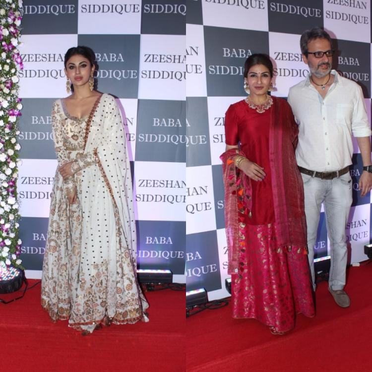 PHOTOS: Mouni Roy, Raveena Tandon & others arrive in traditional attires at Baba Siddique's Iftar party
