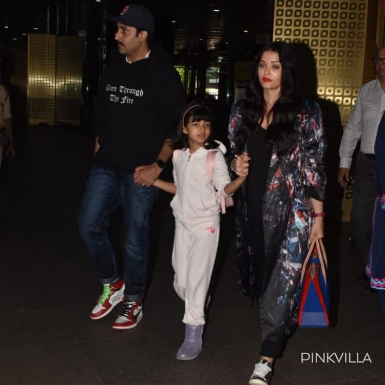 Aishwarya Rai, Abhishek Bachchan & Aaradhya give major family goals as they get papped at the airport in style