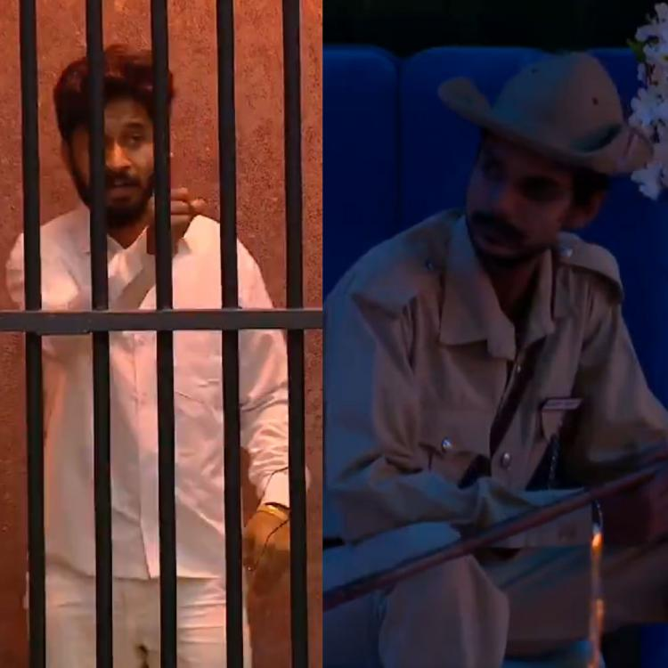 Bigg Boss Kannada 7: Vasuki Vaibhav loses calm after Chandan Achar hits him during Kalla Police task