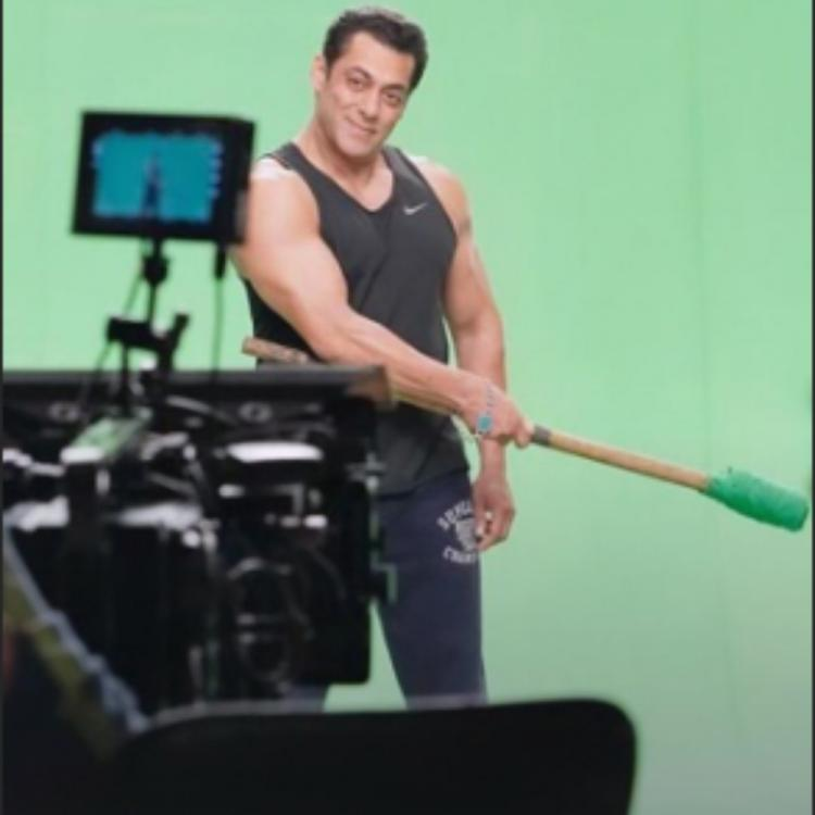 Salman Khan shares a BTS pic from the promo shoot of Bigg Boss 13 & we can't wait for the show to begin