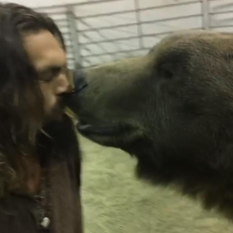 Jason Momoa gave a bear the biscuit from his mouth as a part of preparation for his role