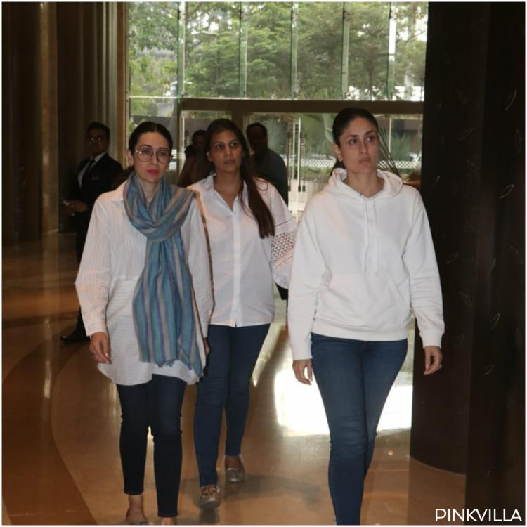 PHOTOS: Kareena Kapoor Khan and Karisma Kapoor attend the prayer meet of Vikram Phadnis' mother
