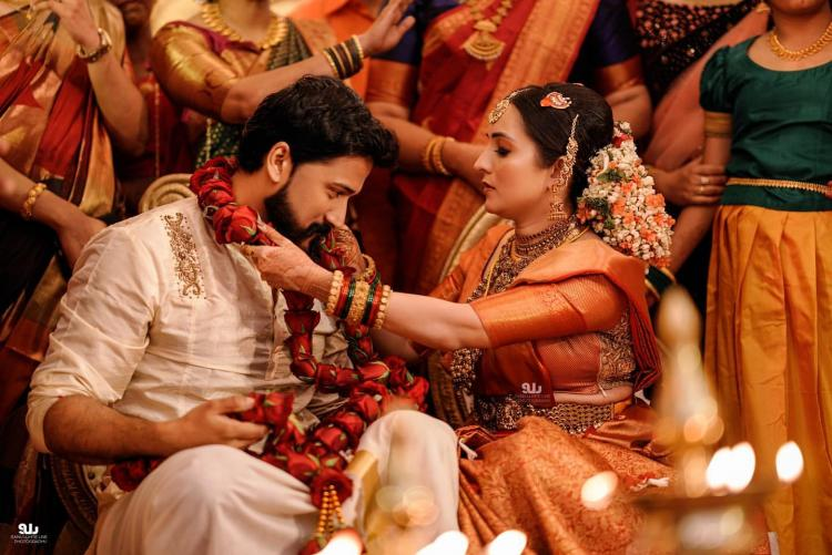 PHOTOS: Bhama ties the knot with Arun; Check out their first beautiful wedding moments