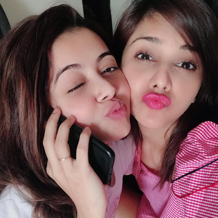 PICS: Bigg Boss 13: Dalljiet Kaur visits ailing Devoleena Bhattacharjee; Teases about her big bang re entry