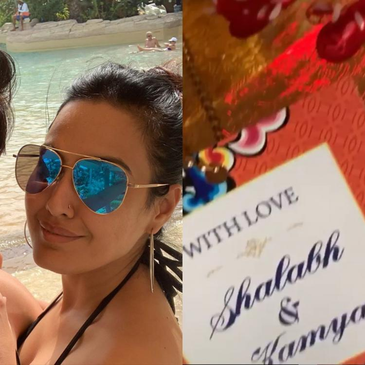 Kamya Punjabi shares FIRST PHOTO of her and beau Shalabh Dang's wedding card; Check it out