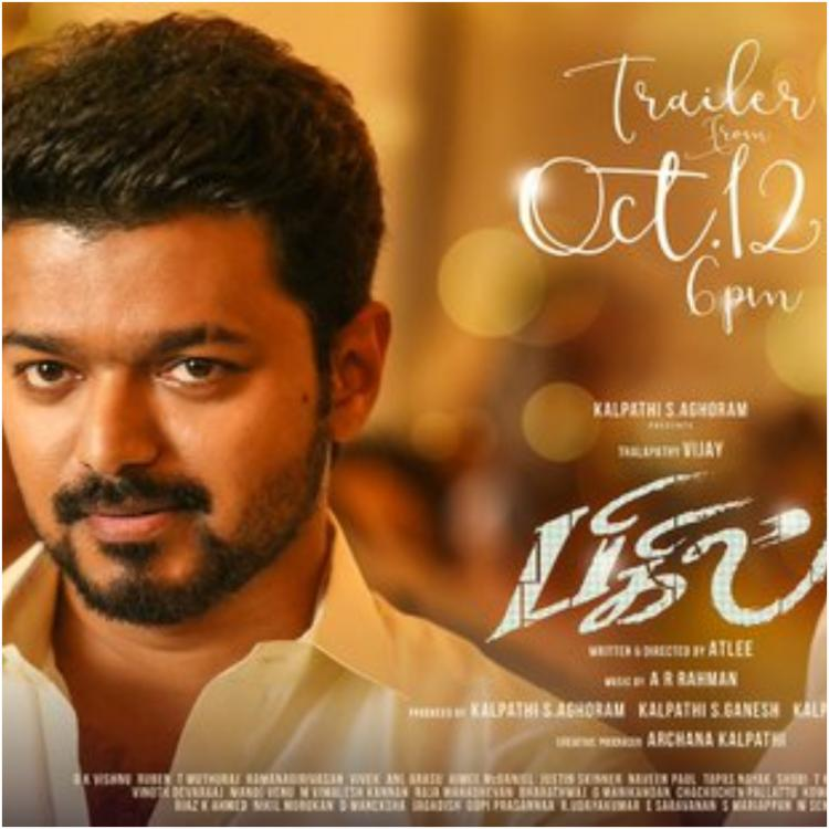 Bigil TRAILER on October 12; Thalapathy Vijay & Nayanthara as a bride in the new poster look gorgeous