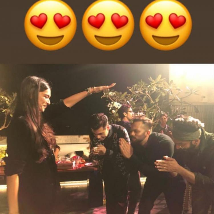 Simmba success Bash: Deepika Padukone gives blessings to Ranveer Singh, Karan Johar & Rohit Shetty