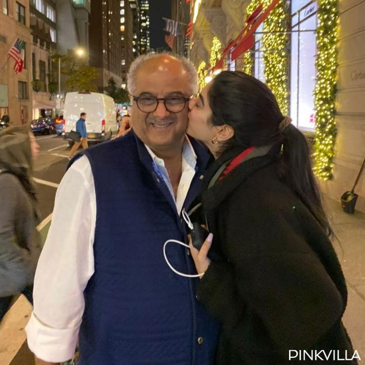 Boney Kapoor celebrated his birthday with daughter Khushi Kapoor in New York; See Pics