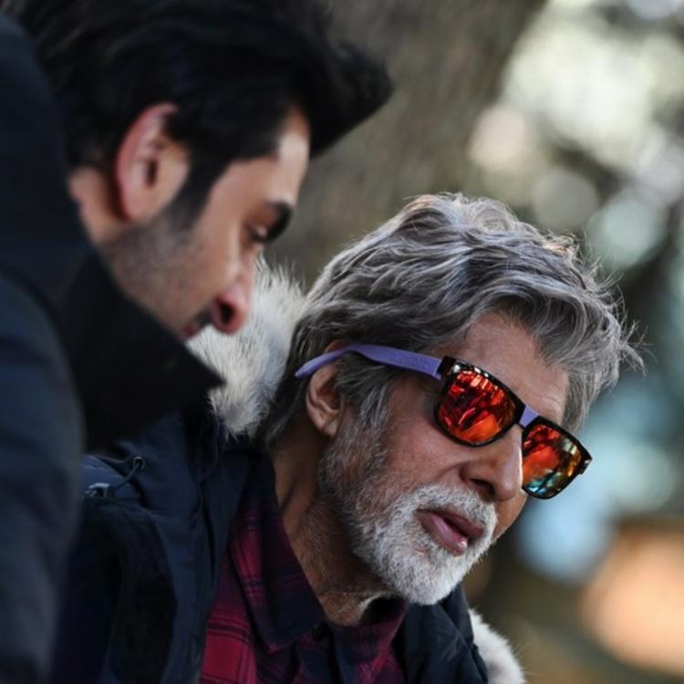 Brahmastra: Amitabh Bachchan shares a BTS pic of him & Ranbir Kapoor shooting in chilly weather; Check it out