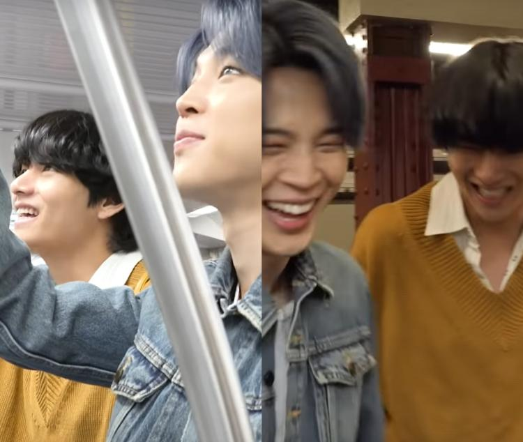 Jimin and V pretended to be in a K-drama in the latest Bangtan Bomb - Tonight Show Subway.