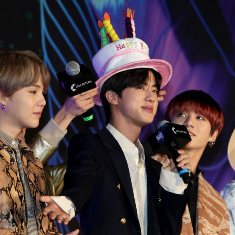 BTS member Jin steals the show with his birthday hat at MAMA 2019 while Jungkook struggles with 2 mics