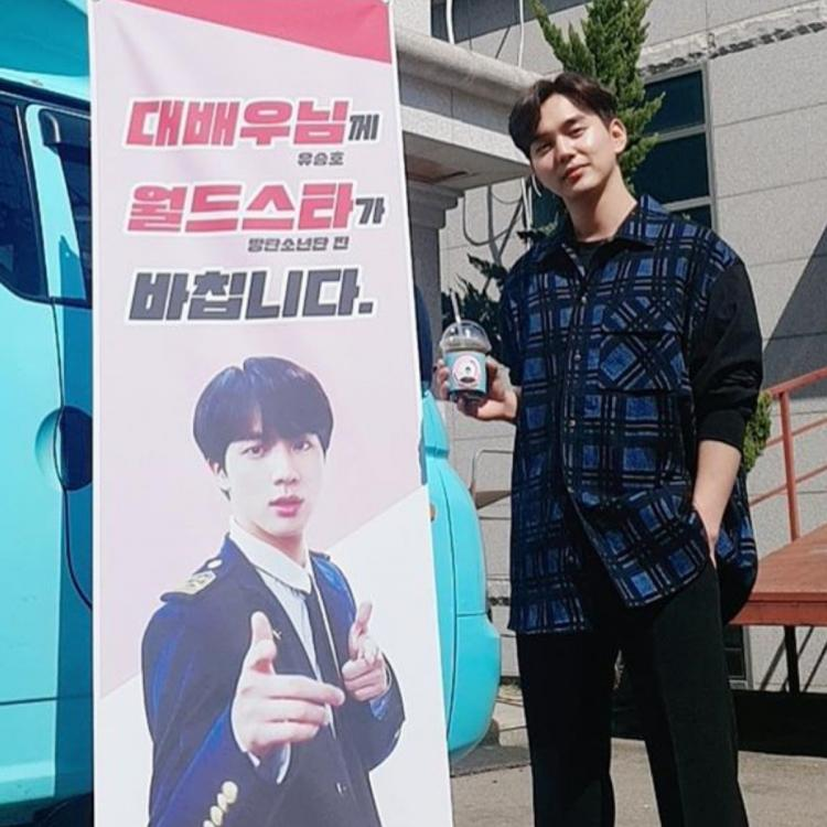 BTS singer Jin gifts Memorist actor Yoo Seung Ho a coffee truck; K Drama star pens a sweet thank you note