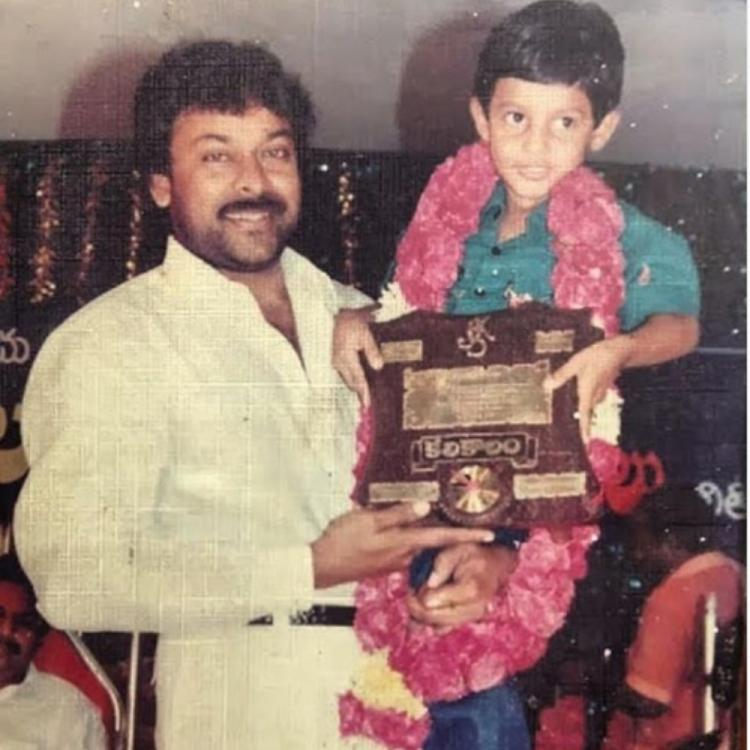 Chiranjeevi's throwback PHOTO of holding a young Aadi Saikumar during an event is worth a glimpse