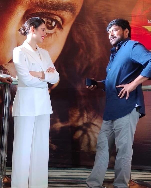 Tamannaah Bhatia expresses her happiness as she shares the stage with the three pillars of Sye Raa team