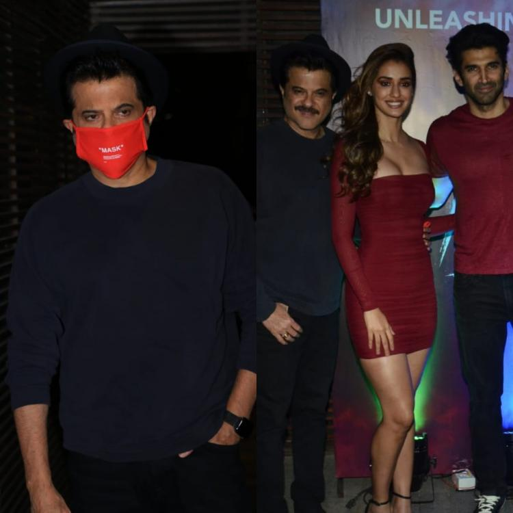 Coronavirus: Anil Kapoor forgets to wear mask as he poses with Disha Patani, Aditya; Paps ask 'Mask kaha hai?'