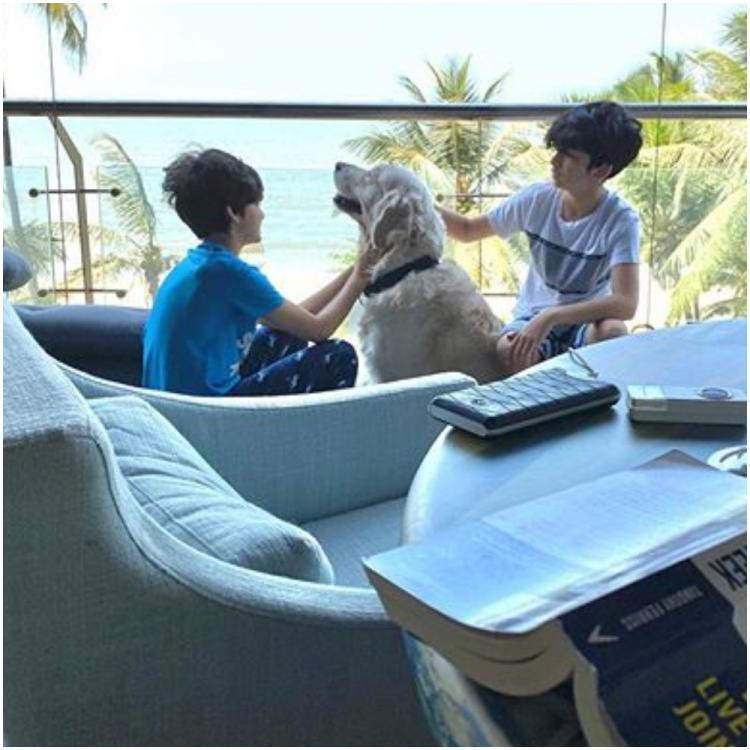 Coronavirus Lockdown: Hrithik Roshan shares a pawfect pic of sons with their dog and Sussanne Khan adores it