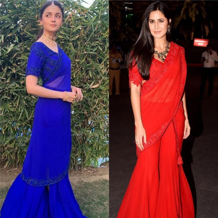 manish malhotra,katrina kaif,alia bhatt,red,Faceoffs,Fashion Faceoff,sharara saree,blue