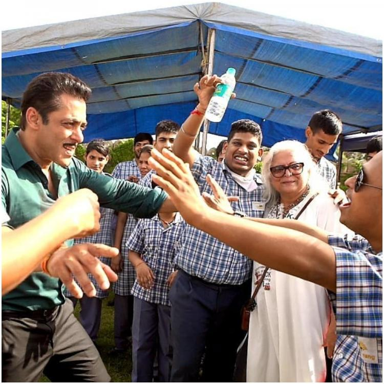 Salman Khan and Sonakshi Sinha spend time with special children on the sets of Dabangg 3; See Pics