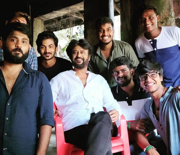 Darbar: Superstar Rajinikanth is all smiles as he poses with his team post film's wrap up; See Pic