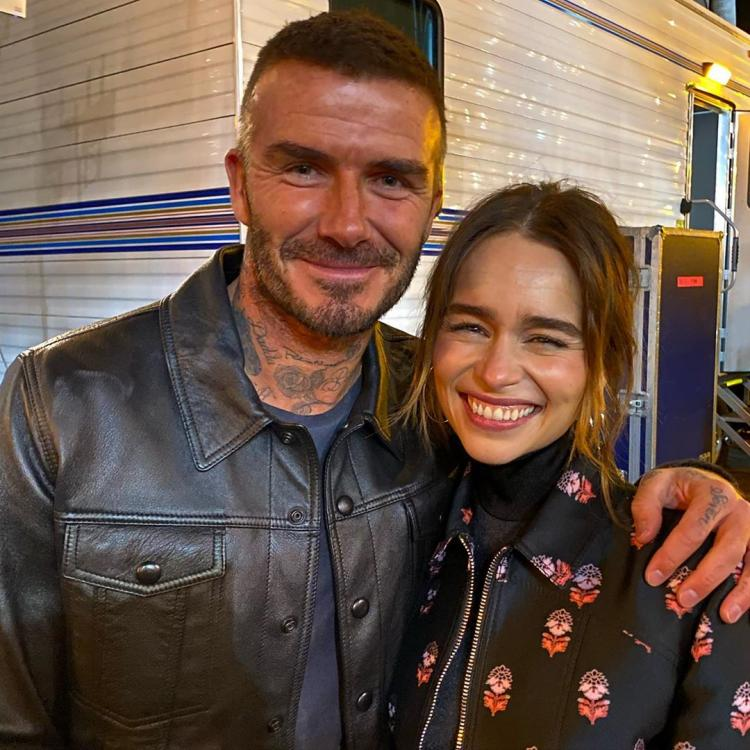 David Beckham and Emilia Clarke were both fangirling over Stevie Nicks at Fleetwood Mac's concert in San Francisco.