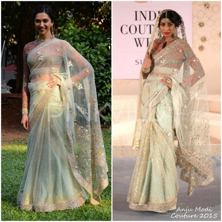 Yay or Nay : Deepika Padukone in Anju Modi Couture | PINKVILLA