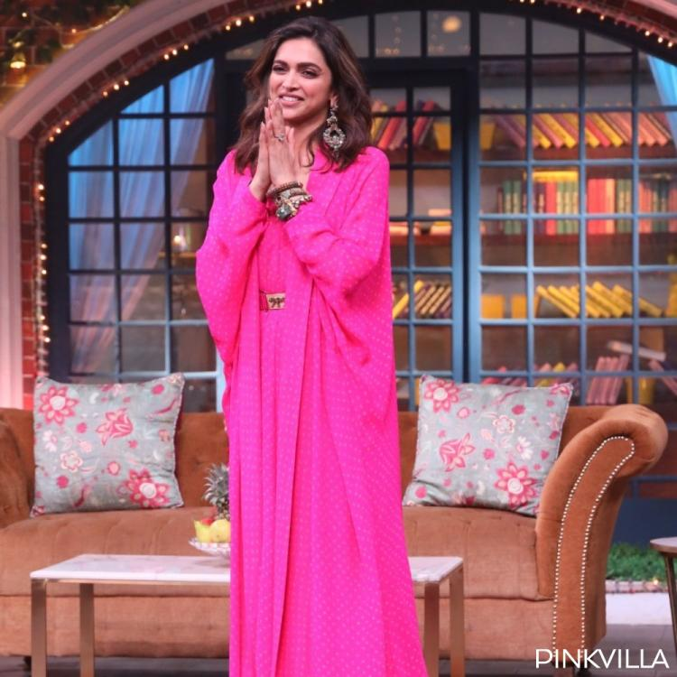 Deepika Padukone looks alluring in a pink ensemble as she shoots for The Kapil Sharma Show; See PHOTOS