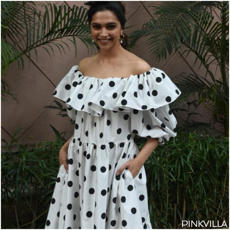 Deepika Padukone looks straight out of a 70s film in a polka dot dress as she promotes Chhapaak; See PHOTOS